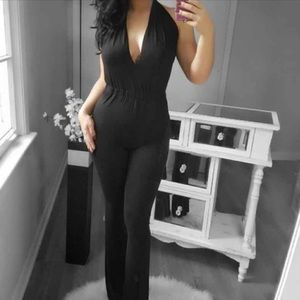 Pants - Last Bella Plunging Jumpsuit